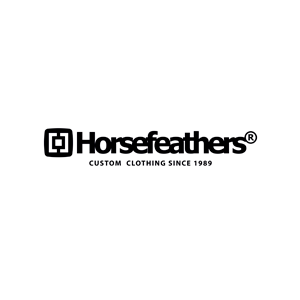 horsefeathers logo custom clothing since 1989 black white rvb