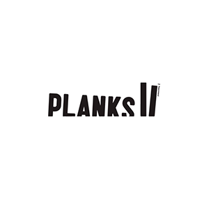 planks logo black white rvb